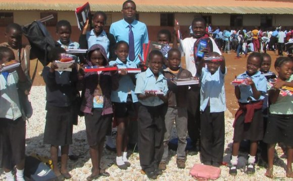 Volunteer at a school project