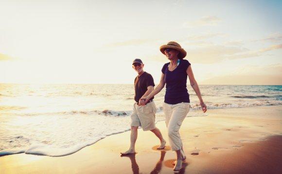 Senior couple costa rica beach