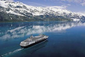 Holland America Line cruiseship in Alaska