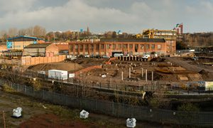 Regeneration of a brownfield site on the banking institutions of this Ouseburn in Newcastle.
